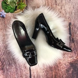 Cole Haan Patent Leather Loafer Heels SZ 9.5